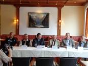 """Pressekonferenz im Hotel """"Edelweiss"""""""